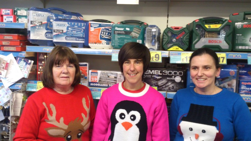 Our lovely Christmas jumper collection at Ryan's Mica
